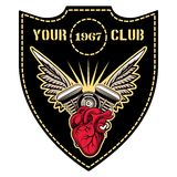 Motor club emblem Stock Photo