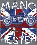 Motor Club Manchester With England Flag Royalty Free Stock Photos
