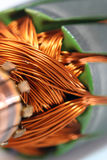 Motor Coil. Close up of a motor coil Stock Images