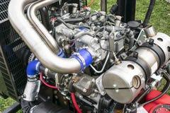 Motor a combustão interna na exposição foto de stock royalty free