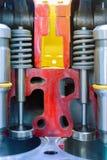 Motor a combustão interna, seção transversal Câmara de combustão das válvulas fotografia de stock