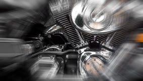 Motor cromado s del ` de la moto Fotografía de archivo libre de regalías
