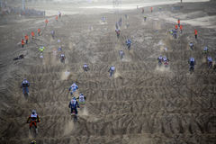 Motor cross race on the Beach Stock Photography