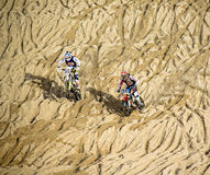 Motor cross race on the Beach Stock Photo