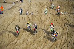 Motor cross race on the Beach Royalty Free Stock Image