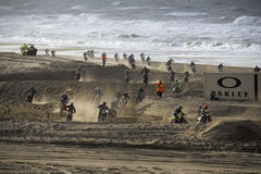 Motor cross race on the Beach Stock Photos