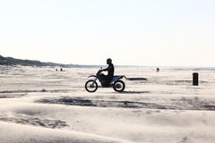 Motor crosser at beach of Ameland Island, Holland Royalty Free Stock Photography