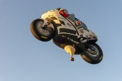 Motor cycle air balloon stock photos