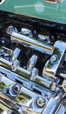 Motor cycle chrome detail Stock Photo