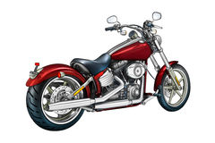 Motor cycle llustration color isolated art Stock Photos