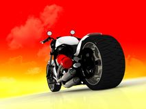 Motor cycle on a mirror background Royalty Free Stock Images