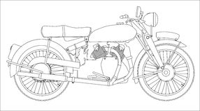 Motor Cycle Outline Stock Photo