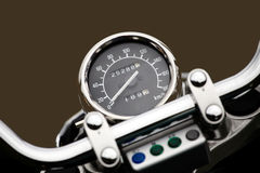 Motor cycle speedometer. Speedometer and dial on motor cycle stock photography