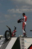 Motor Cycle Stunt Rider Stock Images