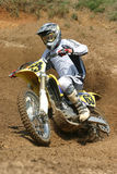 Motor Cycle Turn. Railing A Burm Ay Muddy Creek Stock Photos