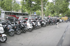 Paris, France Motor Cycles Stock Photography