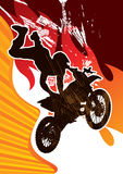 Motor cycling poster Stock Image