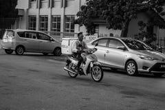 Motor Cyclist Stock Photo