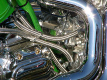 Motor da motocicleta Fotos de Stock