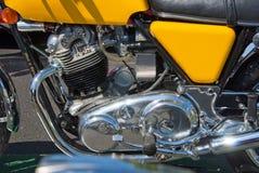 Motor da motocicleta de Norton fotografia de stock