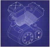 Motor da motocicleta em um azul imagens de stock