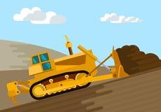 Motor da terra da escavadora ilustração stock