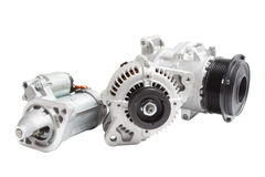 Motor de automóveis bonde Imagens de Stock Royalty Free