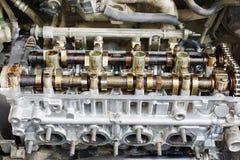 Motor de automóveis da gasolina sob o reparo Fotografia de Stock Royalty Free
