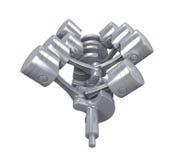 Motor de automóveis de V8 Fotos de Stock Royalty Free
