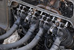 Motor de automóveis do vintage Fotografia de Stock Royalty Free