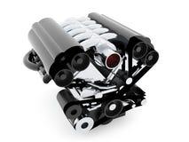 Motor de automóveis no fundo branco ilustração do vetor