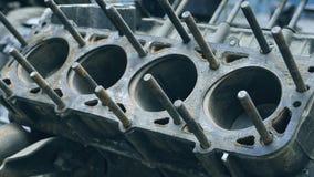 Motor de automóveis no macro, peças imagem de stock royalty free