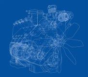 Motor de automóveis Rendição do vetor de 3d Foto de Stock
