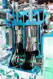 Motor de automóvel de quatro cursos Fotografia de Stock