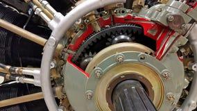 Motor de avión del pistón almacen de metraje de vídeo