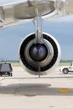 Motor de aviões Fotografia de Stock