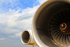 motor de avión Imagen de archivo libre de regalías