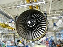 Motor de aviones Foto de archivo libre de regalías