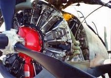 Motor de aviones foto de archivo