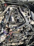 Motor de coche arruinado Fotos de archivo