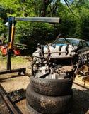 Motor de coche colgante Fotografía de archivo libre de regalías