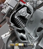 Motor de coche cortar-por la visión Foto de archivo libre de regalías