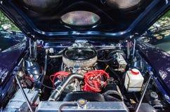 Motor de coche de la escuela vieja Imágenes de archivo libres de regalías