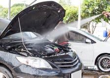 Motor de coche de la limpieza del servicio limpio del cuidado del cuidado Fotos de archivo