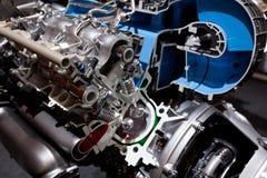 Motor de coche innovador poderoso Foto de archivo libre de regalías