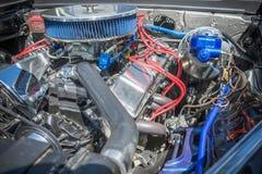 Motor de coche modificado para requisitos particulares del músculo exhibido Imagenes de archivo
