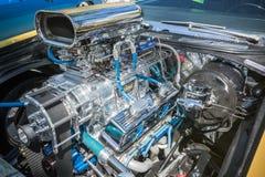 Motor de coche modificado para requisitos particulares del músculo exhibido Foto de archivo libre de regalías