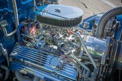 Motor de coche modificado para requisitos particulares del músculo exhibido Imagen de archivo