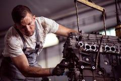 Motor de coche quebrado Foto de archivo libre de regalías