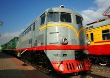 Motor de diesel - a locomotiva Foto de Stock